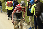Tiesj Benoot (BEL) Lotto Soudal attacks during the 2018 Strade Bianche Men Elite NamedSport race running 184km from Siena to Siena, Tuscany, Italy. 3rd March 2018.<br /> Picture: LaPresse/Fabio Ferrari | Cyclefile<br /> <br /> <br /> All photos usage must carry mandatory copyright credit (© Cyclefile | LaPresse/Fabio Ferrari)