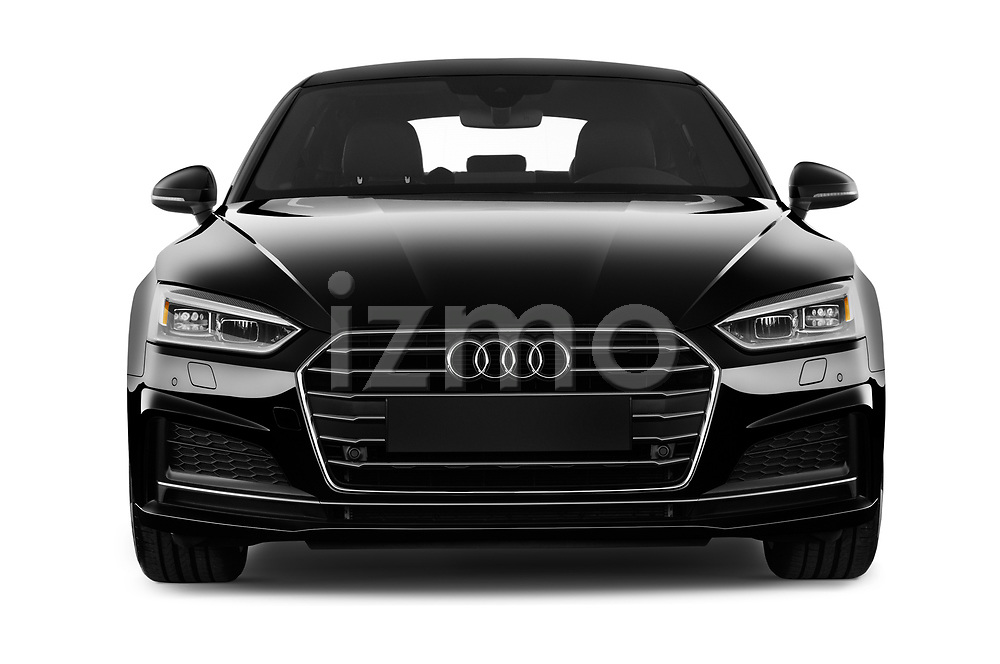 Car photography straight front view of a 2017 Audi A5 Sportback Premium 5 Door Hatchback