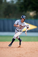 Detroit Tigers Cole Peterson (21) running the bases during an Instructional League game against the Atlanta Braves on October 10, 2017 at the ESPN Wide World of Sports Complex in Orlando, Florida.  (Mike Janes/Four Seam Images)