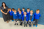 Killocrim NS : M/s O'Brien's junior infants class on their first day at school at Killocrim NS, Listowel.