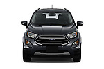 Car photography straight front view of a 2018 Ford Ecosport Titanium 5 Door SUV