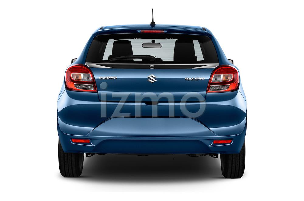 Straight rear view of 2016 Suzuki Baleno Skycruise 2 Door Convertible Rear View  stock images