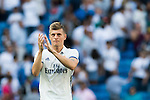 Toni Kroos of Real Madrid celebrates during the La Liga match between Real Madrid and Osasuna at the Santiago Bernabeu Stadium on 10 September 2016 in Madrid, Spain. Photo by Diego Gonzalez Souto / Power Sport Images