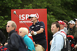 Paul Lawrie watches his drive on the 14th during the first round of the ISPS Handa Wales Open 2012....31.05.12.©Steve Pope