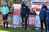 Stevenage FC Manager Alex Revell during Stevenage vs Bradford City, Sky Bet EFL League 2 Football at the Lamex Stadium on 5th April 2021