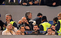 Calcio, Serie A:  Roma vs Palermo. Roma, stadio Olimpico, 21 febbraio 2016. <br /> Roma's Francesco Totti, right, and his wife Ilary Blasi, left, sit on the stand for the Italian Serie A football match between Roma and Palermo at Rome's Olympic stadium, 21 February 2016.<br /> UPDATE IMAGES PRESS/Riccardo De Luca