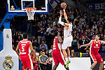 Real Madrid and Crvena Zvezda Telekom during Euroligue Basketball at Barclaycard Center in Madrid, October 22, 2015<br /> Gustavo Ayon and Schortsanitis.<br /> (ALTERPHOTOS/BorjaB.Hojas)