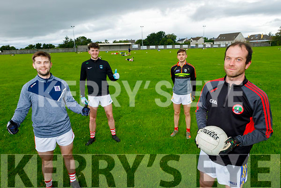 St Pats Blennerville players back in training at the club. <br /> Front right: Paul O'Sullivan.<br /> Back l to r: Padraig O'Connor, Paul McMahon and Jordan Conway.