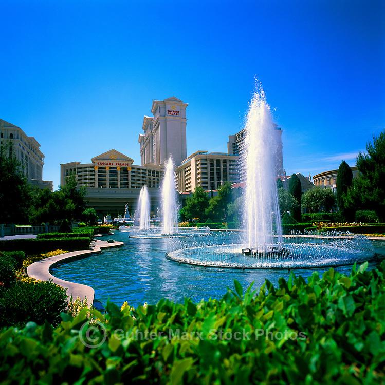 Las Vegas, Nevada, USA - Caesars Palace and Fountains, along The Strip (Las Vegas Boulevard)