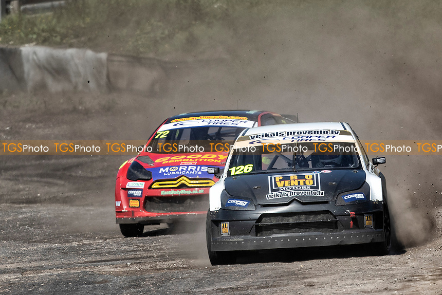 Robert Vitols, Citreon C4, BRX Supercars exits the joker ahead of Tristan Ovenden, Citroen DS3, BRX Supercars during the 5 Nations BRX Championship at Lydden Hill Race Circuit on 31st May 2021