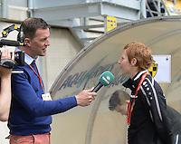 Bekerfinale vrouwen 2015 : Lierse-Club Brugge Vrouwen <br /> <br /> Lien Mermans in gesprek met SPORZA<br /> <br /> foto VDB / BART VANDENBROUCKE