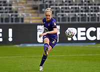 Michelle Colson (2) of Anderlecht pictured during a female soccer game between RSC Anderlecht Dames and Sporting Charleroi  on the second matchday of the 2021 - 2022 season of Belgian Womens Super League , saturday 28 th of August 2021  in Brussels , Belgium . PHOTO SPORTPIX   DAVID CATRY