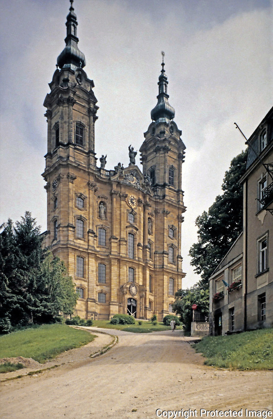 Pilgrimage Church located in Bamberg, near Bavaria, southern Germany.  Baroque-Rococo basilica, designed by Balthasar Neumann, constructed between 1743 and 1772.