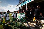 North Ferriby players leaving the pitch at half time. Vanarama National League North, Promotion Final, North Ferriby United v AFC Fylde, 14th May 2016.
