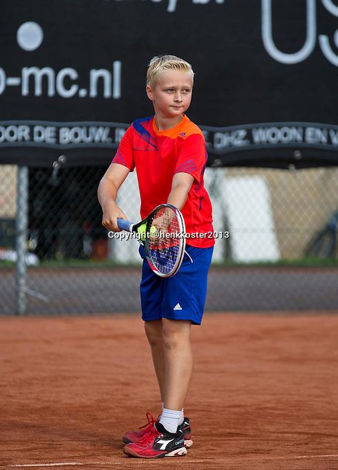 08-08-13, Netherlands, Rotterdam,  TV Victoria, Tennis, NJK 2013, National Junior Tennis Championships 2013,  Daan Hendriks<br /> <br /> <br /> Photo: Henk Koster