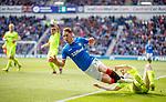 05.05.2019 Rangers v Hibs: Nikola Katic and David Gray