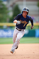Scranton/Wilkes-Barre RailRiders shortstop Jonathan Diaz (1) running the bases during a game against the Buffalo Bisons on July 2, 2016 at Coca-Cola Field in Buffalo, New York.  Scranton defeated Buffalo 5-1.  (Mike Janes/Four Seam Images)