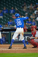Luke Heyer (26) of the Kentucky Wildcats at bat against the Louisiana Ragin' Cajuns in game seven of the 2018 Shriners Hospitals for Children College Classic at Minute Maid Park on March 4, 2018 in Houston, Texas.  The Wildcats defeated the Ragin' Cajuns 10-4. (Brian Westerholt/Four Seam Images)
