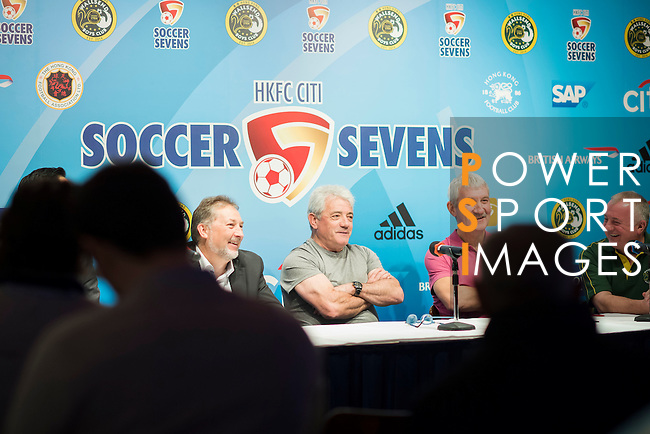 (L-R) Chris Plowman, Tournament Director of HKFC Citi Soccer Sevens, Kevin Keegan, former English football player, and Terry McDermott, former Liverpool football player, attend the press conference for the HKFC Citi Soccer Sevens Hong Kong 2017 at the Hong Kong Football Club on 07 February 2017 in Hong Kong, China. Photo by Victor Fraile / Power Sport Images