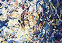 American Painters:  Joseph Stella--Battle of Lights, Coney Island, 1914-18.  Oil on canvas.  U. of Nebraska.