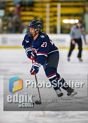 8 February 2020: University of Connecticut Husky Forward Morgan Wabick, a Junior from Winnipeg, Manitoba, in first period action against the University of Vermont Catamounts at Gutterson Fieldhouse in Burlington, Vermont. The Huskies defeated the Lady Cats 4-2 in the first game of their weekend Hockey East series. Mandatory Credit: Ed Wolfstein Photo *** RAW (NEF) Image File Available ***