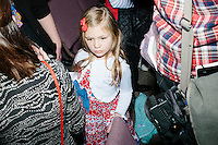 Brienna Rejdych, 6, of Derry, NH, stands in the crowd as Texas senator and Republican presidential candidate Ted Cruz greets people after a town hall at Crossing Life Church in Windham, New Hampshire, on Tues. Feb. 2, 2016. The day before, Cruz won the Iowa caucus.