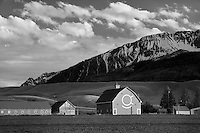Barn with Wallowa Mountains. Near Joseph, Oregon