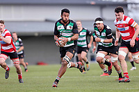 Action from the Canterbury Metro premier rugby final between Marist Albion and Burnside at Rugby Park in Christchurch, New Zealand on Saturday, 24 July 2021. Photo: Martin Hunter / lintottphoto.co.nz