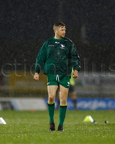 13th March 2021; Galway Sportsgrounds, Galway, Connacht, Ireland; Guinness Pro 14 Rugby, Connacht versus Edinburgh; Connacht fly half Jack Carty pictured during the warm up as the rain falls in Galway