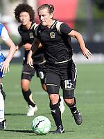 19 July 2009: Tiffany Milbrett of FC Gold Pride in action during the game against Boston Breakers at Buck Shaw Stadium in Santa Clara, California.   Boston Breakers defeated FC Gold Pride, 1-0.