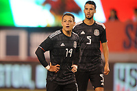 EAST RUTHERFORD, NJ - SEPTEMBER 7: Javier Hernandez #14 of Mexico during the game during a game between Mexico and USMNT at MetLife Stadium on September 6, 2019 in East Rutherford, New Jersey.