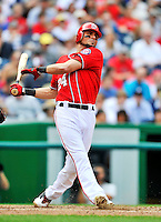 24 September 2011: Washington Nationals outfielder Rick Ankiel in action against the Atlanta Braves at Nationals Park in Washington, DC. The Nationals defeated the Braves 4-1 to even up their 3-game series. Mandatory Credit: Ed Wolfstein Photo