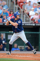 Durham Bulls first baseman Shelley Duncan #47 during a game against the Buffalo Bisons on June 24, 2013 at Coca-Cola Field in Buffalo, New York.  Durham defeated Buffalo 7-1.  (Mike Janes/Four Seam Images)