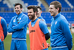 St Johnstone Training….17.03.17<br />Richie Foster having fun during training this morning at McDiarmid Park ahead of tomorrow's trip to Motherwell.<br />Picture by Graeme Hart.<br />Copyright Perthshire Picture Agency<br />Tel: 01738 623350  Mobile: 07990 594431