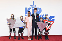 """Rhianna Dorris and Angus Imrie<br /> arriving for the premiere of """"The Kiid who would be King"""" at the Odeon Luxe cinema, Leicester Square, London<br /> <br /> ©Ash Knotek  D3476  03/02/2019"""