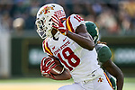 Iowa State Cyclones wide receiver Hakeem Butler (18) in action during the game between the Iowa State Cyclones and the Baylor Bears at the McLane Stadium in Waco, Texas.