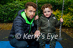 Enjoying the swings in the playground in the Killarney National park on Sunday, l to r: Hayden and Gary Keane.