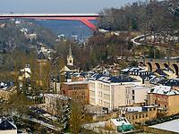 Pfaffenthal mit Brücke Großherzogin Charlotte, Luxemburg-City, Luxemburg, Europa<br /> Pfaffenthal with  bridge Grand Duchesse Charlotte, Luxembourg City, Europe