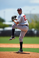 GCL Braves pitcher Alan Rangel (23) delivers a pitch during a game against the GCL Astros on July 23, 2015 at the Osceola County Stadium Complex in Kissimmee, Florida.  GCL Braves defeated GCL Astros 4-2.  (Mike Janes/Four Seam Images)