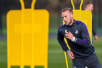 Wednesday 08 February 2017<br /> Pictured: Mike van der Hoorn in action<br /> Re: Swansea City FC training session at the Fairwood training ground, Swansea, Wales, UK