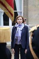 FLORENCE PARLY (MINISTRE DES ARMEES) - ENTRETIEN DE FLORENCE PARLY, MINISTRE DES ARMEES, AVEC MARIE NOELLE KOYARA, MINISTRE DE LA DEFENSE DE LA REPUBLIQUE CENTRAFRICAINE A L'HOTEL DE BRIENNE, PARIS, FRANCE, LE 10/11/2017.