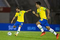 17th November 2020; Centenario Stadium, Montevideo, Uruguay; Fifa World Cup 2022 Qualifying football; Uruguay versus Brazil; Éverton Ribeiro of Brazil hits a long ball forward