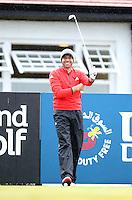 27 May 2015; Sergio Garcia tees up at the 10th<br /> <br /> Dubai Duty Free Irish Open Golf Championship 2015, Pro-Am. Royal County Down Golf Club, Co. Down. Picture credit: John Dickson / DICKSONDIGITAL