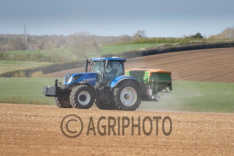 26-4-2021 Applying granular nitrogen to Spring drilled pre-emerged crop<br /> ©Tim Scrivener Photographer 07850 303986<br />      ....Covering Agriculture In The UK....