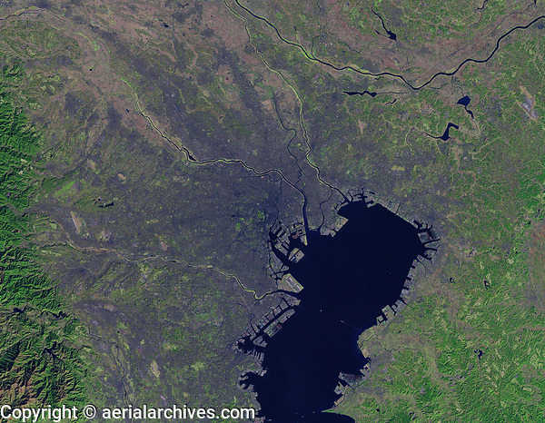 satellite image of Tokyo, Japan