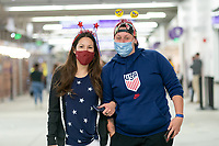 ORLANDO, FL - JANUARY 22: USA Supporters during a game between Colombia and USWNT at Exploria stadium on January 22, 2021 in Orlando, Florida.