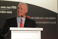 Daniel Fournier, Chairman & CEO of Ivanhoe Cambridge inc.,  deliver a speech to the Canadian Club of Montreal ,Monday september 21, 2015.<br /> <br /> Photo : Agence Quebec Presse - Pierre Roussel