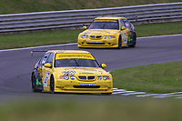 Round 9 of the 2002 British Touring Car Championship. #21 Gareth Howell (GBR) & #22 Colin Turkington (GBR). Team Atomic Kitten. MG ZS.