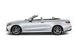 Car driver side profile view of a 2018 Mercedes Benz E Class E400 2 Door Convertible