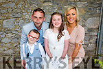 Caitlin McIntyre from Gaelsscoil Mhic Easmainn NS received his First Holy Communion in St John's Church on Saturday.<br /> L to r: James, Nicola and James McIntyre.